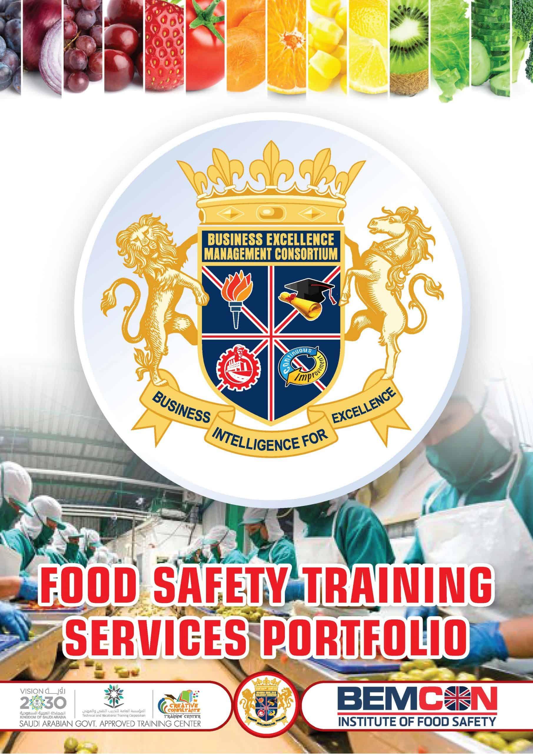 Food Safety Training Services Portfolio 2020