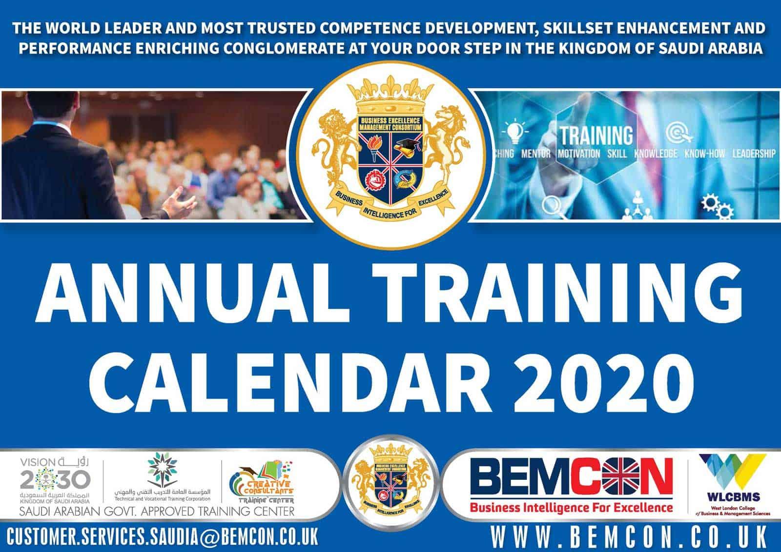 BEMCON Anual Training Calendar