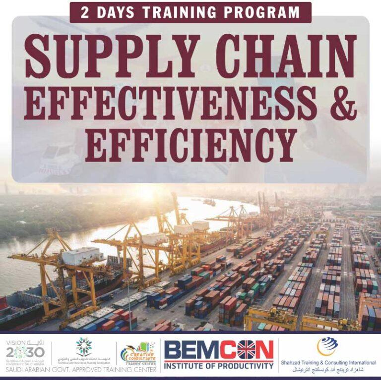 Supply Chain Effectiveness & Efficiency