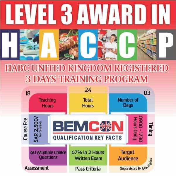 Level 3 Award in HACCP