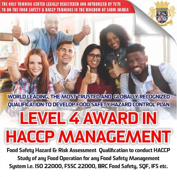 Level 4 Award in HACCP