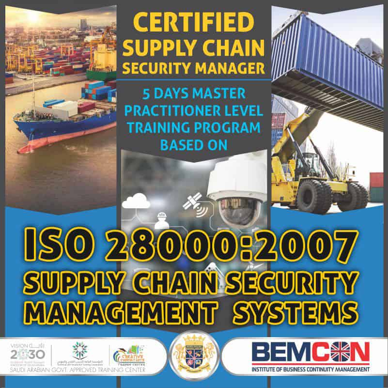 ISO 28000 2007 Supply Chain Security Manager Nov 2020 1
