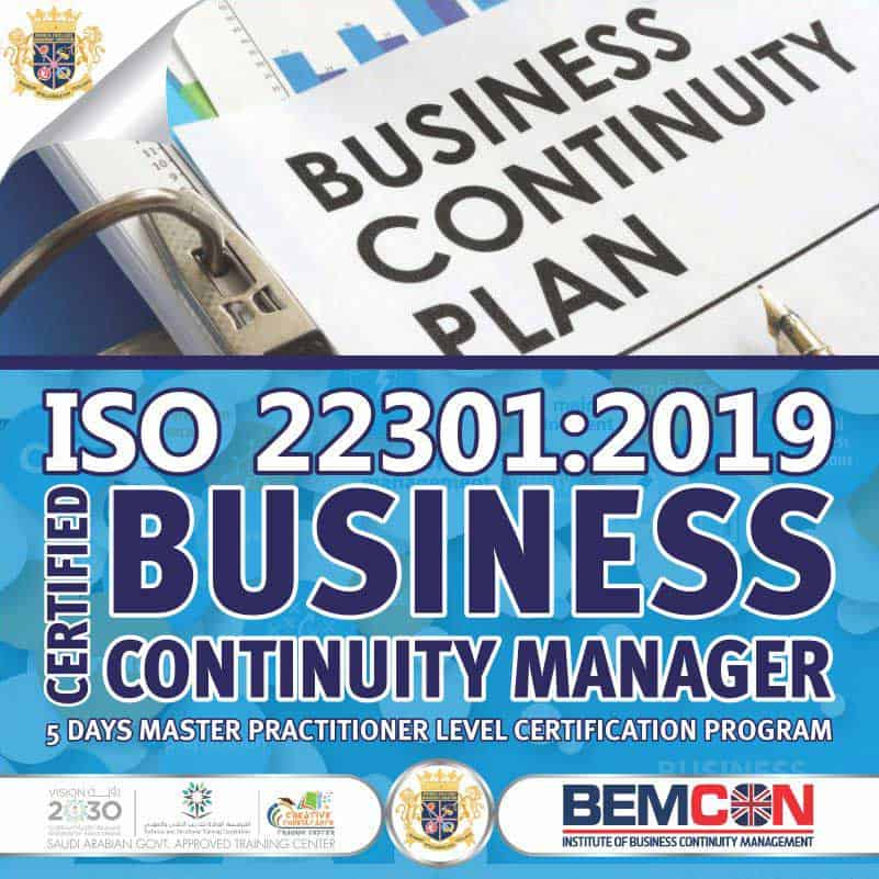 ISO 22301 2019 Business Continuity Manager Dec 2020