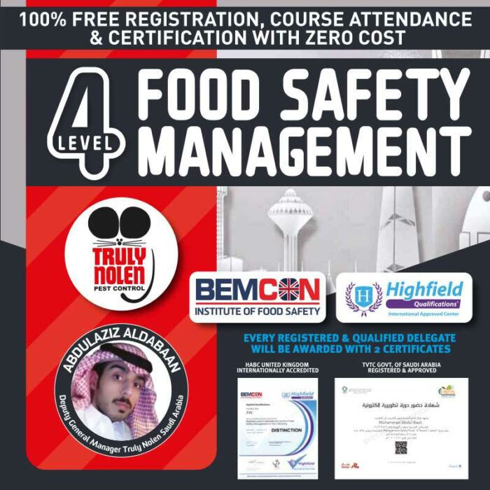 100% Free Level 4 Award in Food Safety Management